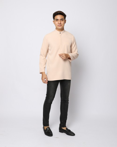 AUFMAN KURTA ZIP - NUDE CREAM
