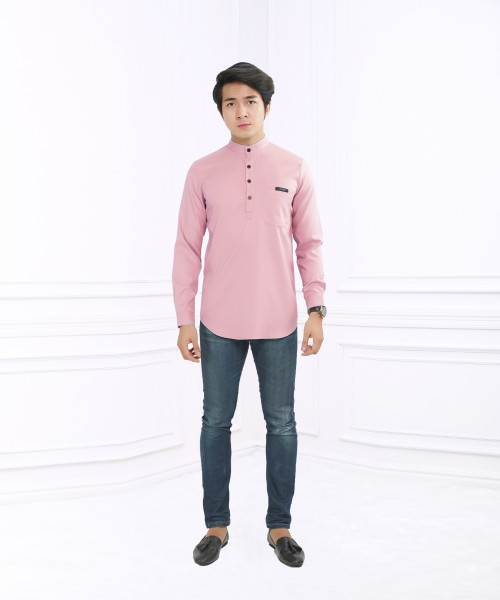 ASRAEL BUTTON - SALMON PINK