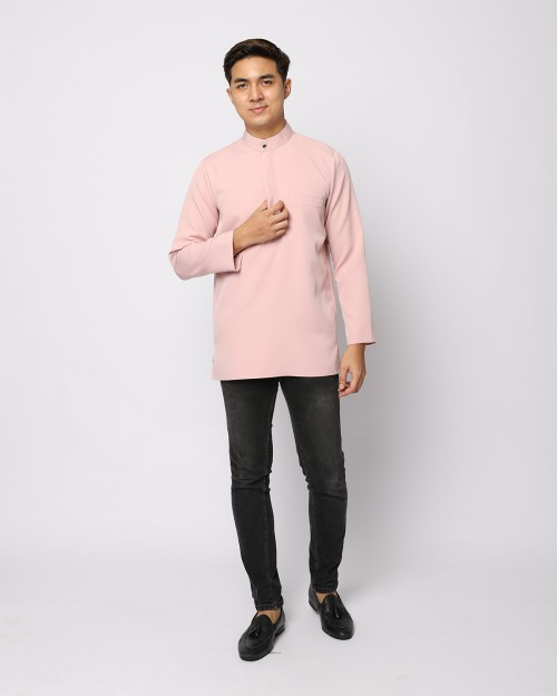 AUFMAN KURTA ZIP - DUSTY PINK