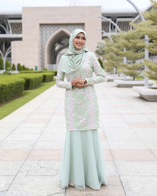 ESTILA KURUNG - DUSTY GREEN