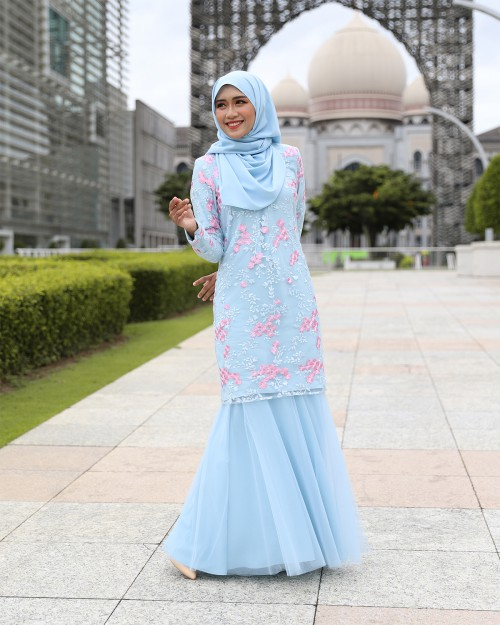 ESTILA KURUNG - DUSTY BLUE