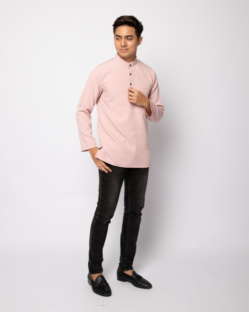 HELMICO KURTA BUTTON - DUSTY PINK