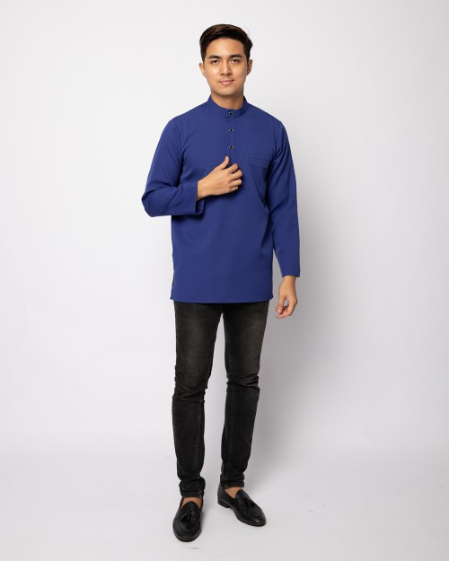 HELMICO KURTA BUTTON - INDIGO BLUE