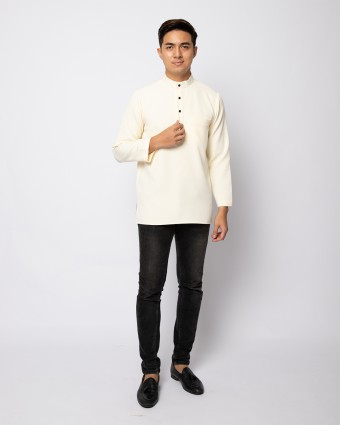 HELMICO KURTA BUTTON - SOFT YELLOW