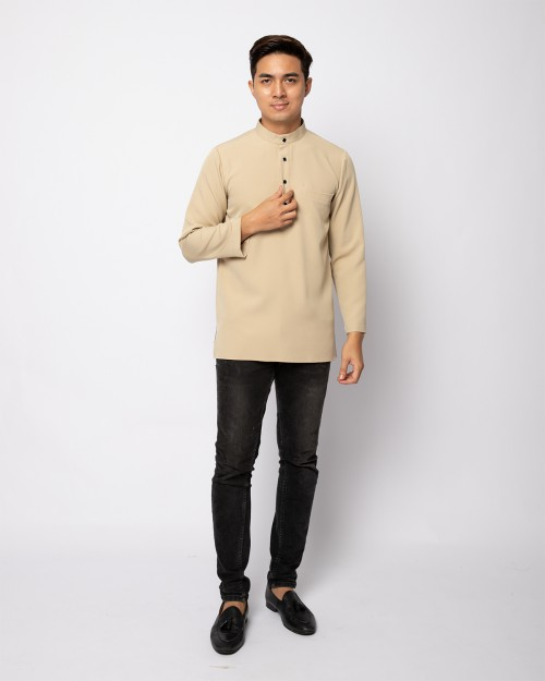 HELMICO KURTA BUTTON - PALE OLIVE