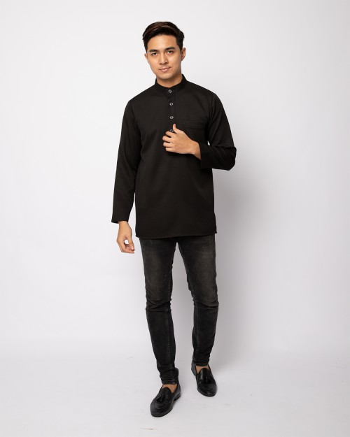 HELMICO KURTA BUTTON - BLACK