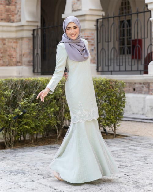 ESTINAA KURUNG - MINT GREEN