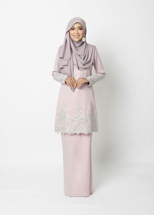 LOWELLE KURUNG PAHANG - DUSTY PINK