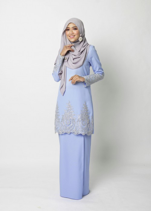 LOWELLE KURUNG PAHANG - PARIS BLUE