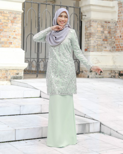 AIREENA KURUNG - DUSTY GREEN