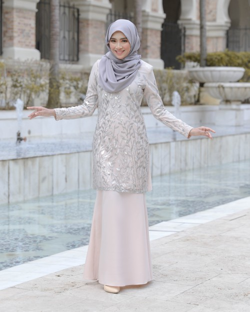 AIREENA KURUNG - NUDE CREAM