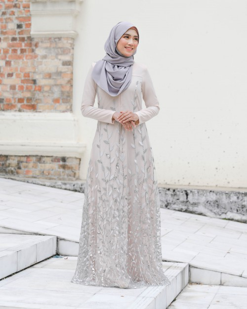 AIREENA JUBAH - NUDE CREAM