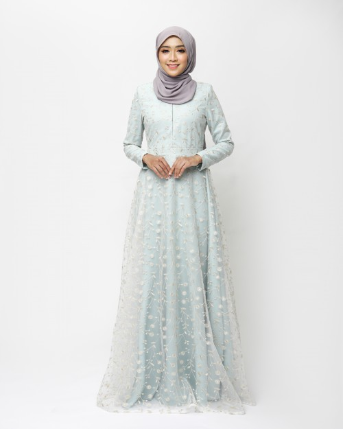 LEONIS DRESS-BLUE MINT