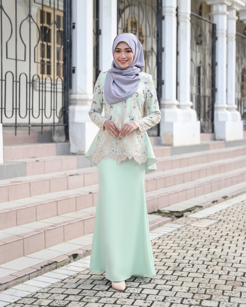 CATTLEYA KURUNG - MINT GREEN