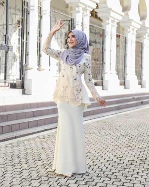 CATTLEYA KURUNG - SOFT YELLOW
