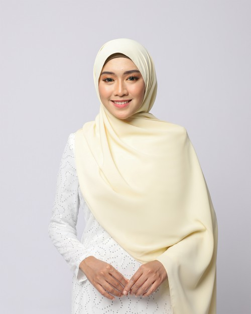 LABELLE SHAWL - PASTEL YELLOW