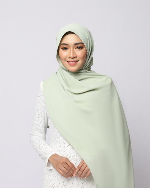 LABELLE SHAWL - DUSTY GREEN