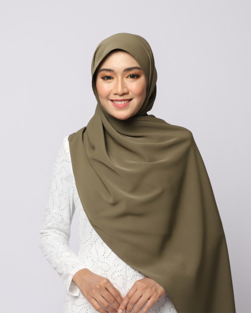 LABELLE SHAWL - DARK OLIVE