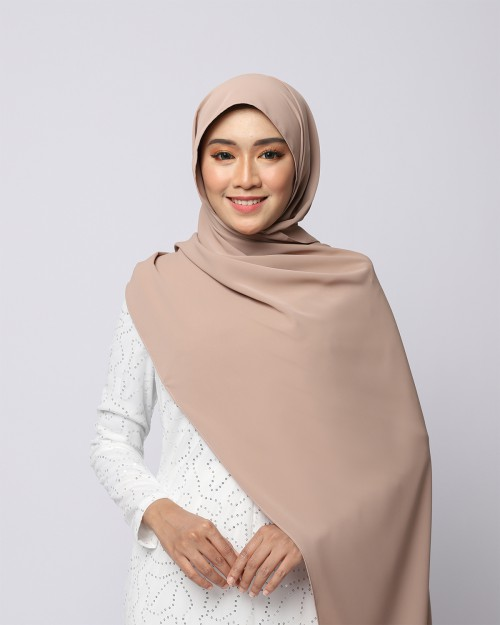 LABELLE SHAWL - NATURAL BROWN