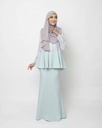 ARABELLE PEPLUM - BLUE MINT