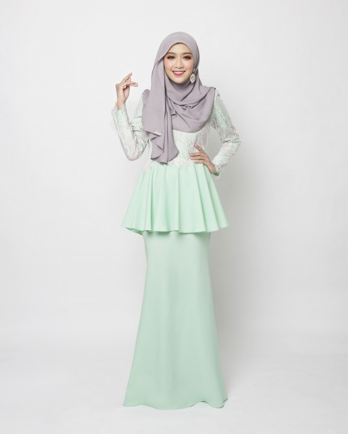 ARABELLE PEPLUM -MINT GREEN