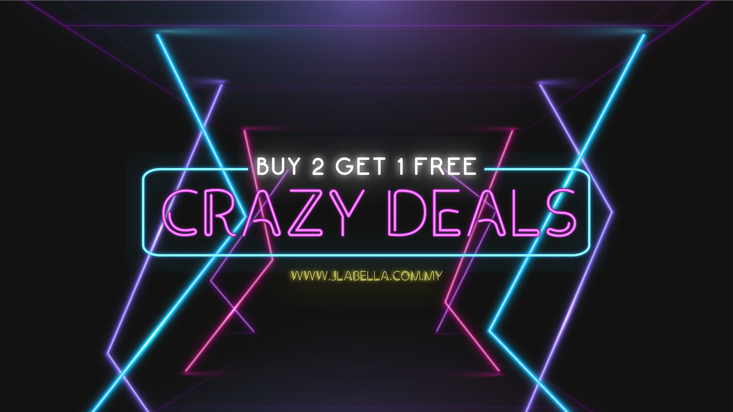 ACRAZY DEAL - BUY 2 GET 1 FREE
